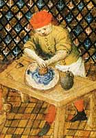 medieval pigment grinding